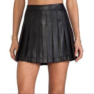 BCBG pleated pleather skirt